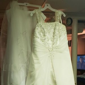 3e2ff23c25f David s Bridal. Wedding Dress with Accessories